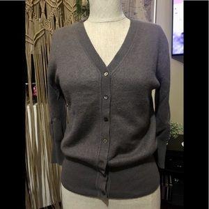 Zara Knit 100% Cashmere Soft Cardigan 3/4 sleeve M